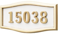 Gaines Large Roundtangle White Polished Brass