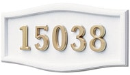 Gaines Large Roundtangle White Brass Numbers