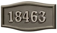Gaines Large Roundtangle Bronze Nickel Numbers