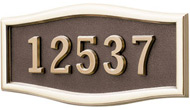 Gaines Large Roundtangle Bronze Polished Brass