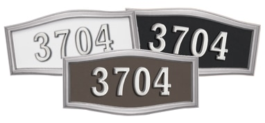 Gaines Large Roundtangle Address Plaque with Satin Nickel Frame Product Image