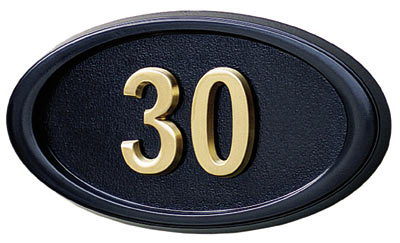 Gaines Small Oval Wall Address Plaque