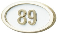 Gaines Small Oval White Polished Brass