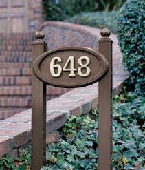Small Oval Address Plaque with Lawn Plaque Kit Product Image
