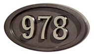Gaines Small Oval Bronze Nickel Numbers