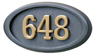 Gaines Small Oval Bronze Brass Numbers