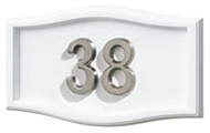 Gaines Small Roundtangle White Nickel Numbers