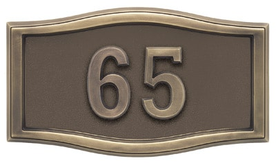 Gaines Small Roundtangle Address Plaque with Antique Bronze Frame Product Image