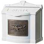 Gaines Eagle Wall Mount White Bronze