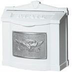 Gaines Eagle Wall Mount White Nickel