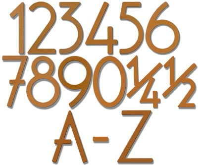 Rust 3 Inch House Numbers and Letters Product Image
