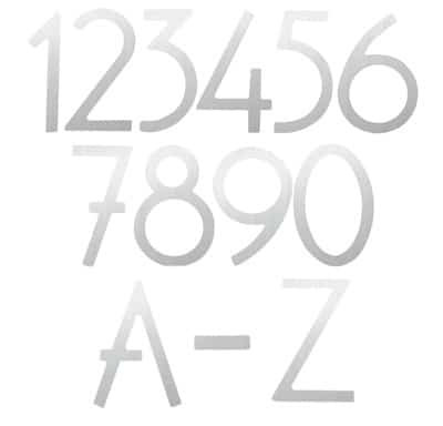 Silver 3 Inch House Numbers and Letters Product Image