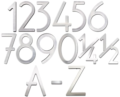 Stainless Steel 3 Inch House Numbers and Letters Product Image