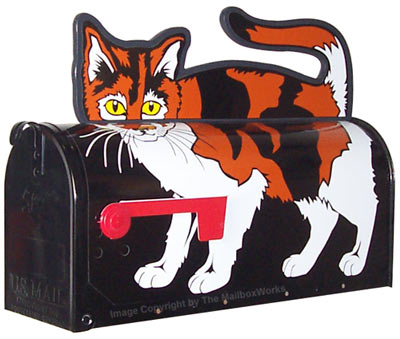 Calico Cat Novelty Mailbox Product Image
