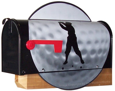Golf Ball Novelty Mailbox Product Image