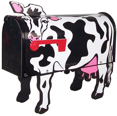 Holstein Cow Novelty Mailbox Product Image