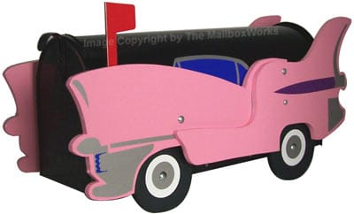 Pink Cadillac Novelty Mailbox Product Image