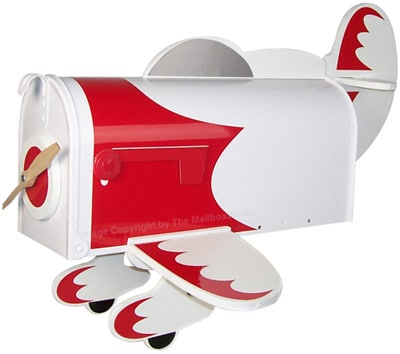 Racing Plane Novelty Mailbox