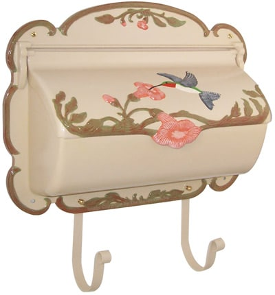 Natural Hand Painted Hummingbird Wall Mount Mailbox Product Image
