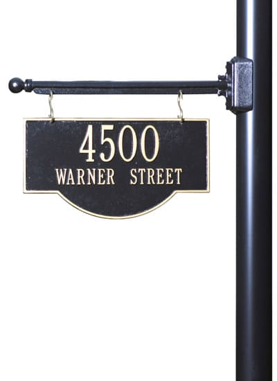 Whitehall 2-Sided Hanging Arch Address Plaque Product Image