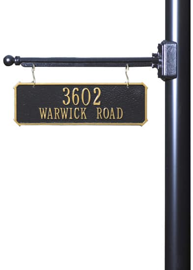 Whitehall 2-Sided Hanging Rectangle Address Plaque Product Image