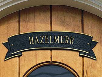 Whitehall Ribbon Door Address Plaque Product Image