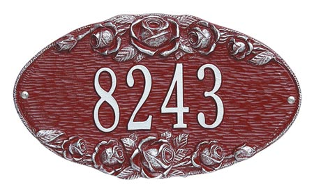 Whitehall Rose Oval Address Plaque Product Image
