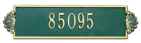 Whitehall Shell Horizontal Address Plaque