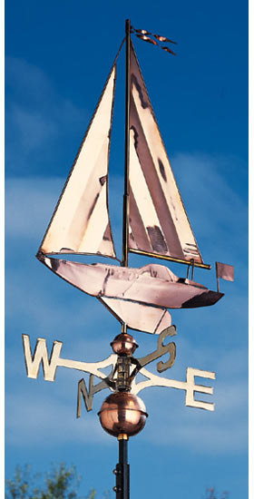Whitehall Copper Sailboat Classic Weathervane Product Image