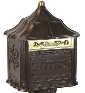Amco Colonial Pedestal Mailbox Bronze