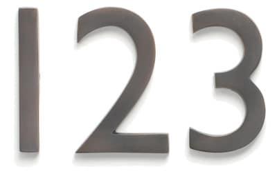 Laguna House Numbers Dark Copper Close Up