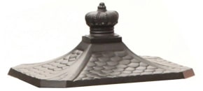 AMCO Victorian Pedestal Roof Replacement Bronze