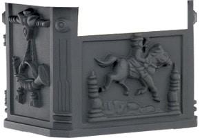AMCO Victorian Pedestal Mailbox Box Black