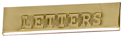 Replacement Brass Plate For AMCO Victorian Pedestal Mailbox Product Image