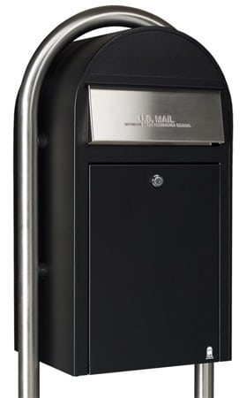 Bobi Grande Front Access Mailbox with Round Post Product Image