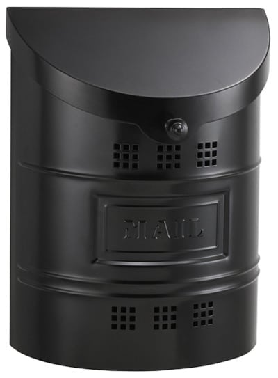 Ecco Black Wall Mount Mailbox Product Image