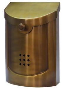 Ecco 5 Mailbox Satin Brass