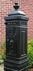 Ecco 8 Tower Mailbox Satin Black