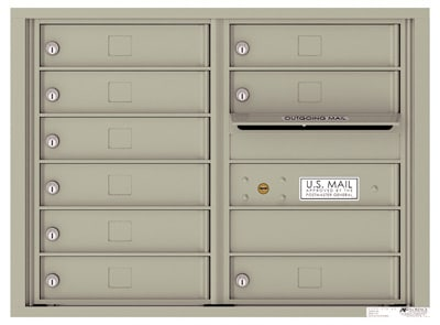 4C Horizontal Mailbox with 9 Doors 0 Parcel Lockers – Front Loading – 4C06D-09 Product Image