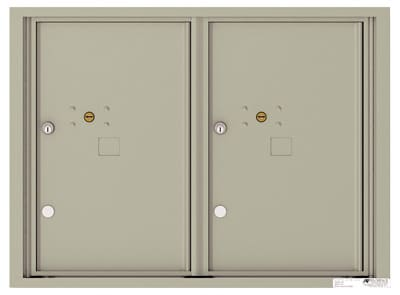 4C Horizontal Mailbox with 0 Doors 2 Parcel Lockers – Front Loading – 4C06D-2P Product Image