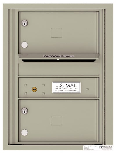 4C Horizontal Mailbox with 2 Doors 0 Parcel Lockers – Front Loading – 4C06S-02 Product Image