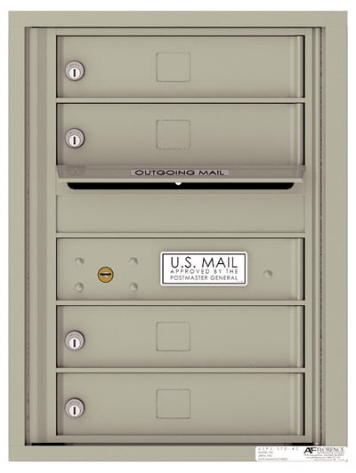 4C Horizontal Mailbox with 4 Doors 0 Parcel Lockers – Front Loading – 4C06S-04 Product Image