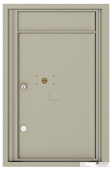 4C07S-1P Front Loading Commercial Surface Mount 4C Parcel Lockers – 1 Parcel Locker Product Image