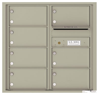 4C08D-07 Front Loading Commercial Surface Mount 4C Mailboxes – 7 Tenant Doors Product Image