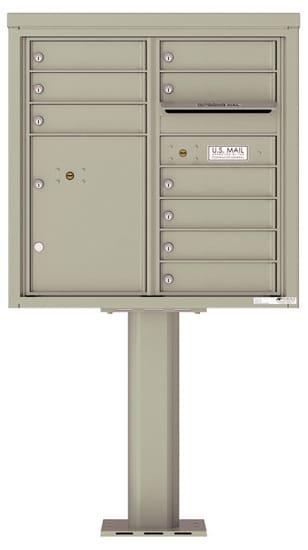 4C08D-09-P Commercial 4C Pedestal Mailboxes – 9 Tenant Doors 1 Parcel Locker Product Image