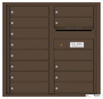 Florence 4C Mailboxes 4C08D-13 Antique Bronze