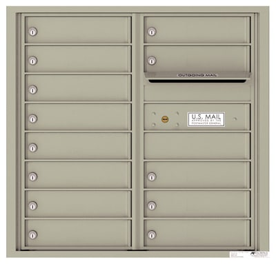 4C08D-13 Front Loading Commercial Surface Mount 4C Mailboxes – 13 Tenant Doors Product Image