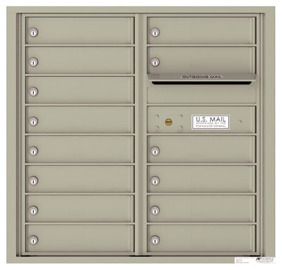 4C08D-14 Front Loading Commercial Surface Mount 4C Mailboxes – 14 Tenant Doors Product Image