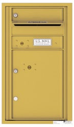 Florence 4C Mailboxes 4C08S-01 Gold Speck