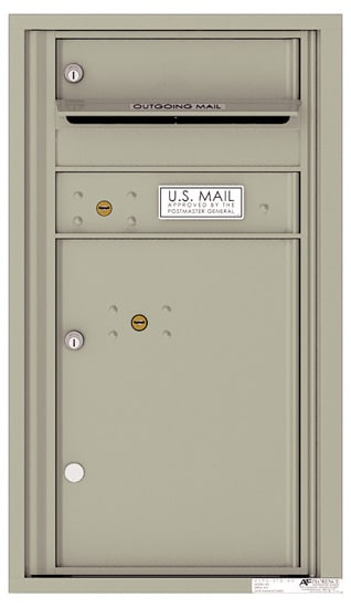 4C08S-01 Front Loading Commercial Surface Mount 4C Mailboxes – 1 Tenant Door 1 Parcel Locker Product Image